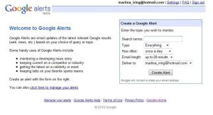 Free marketing tool - Google alerts